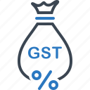 exemption, gst, save, tax icon