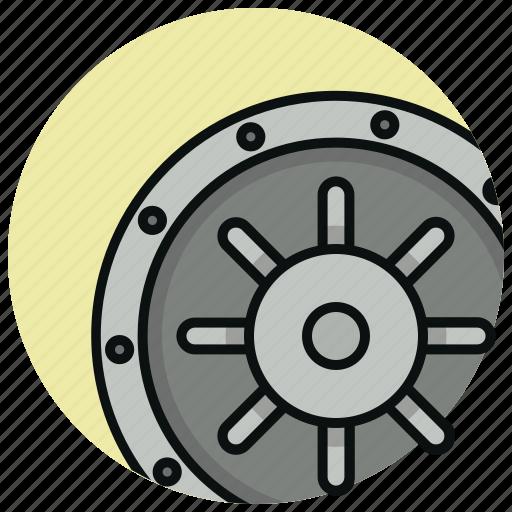 bank, finance, safe, secure, secured icon