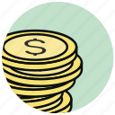 cash, cent, coin, dollar, finance, money icon