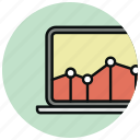 chart, computer, diagram, graph, marketing, screen, statistics icon