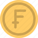 cash, coin, currency, finance, franc icon