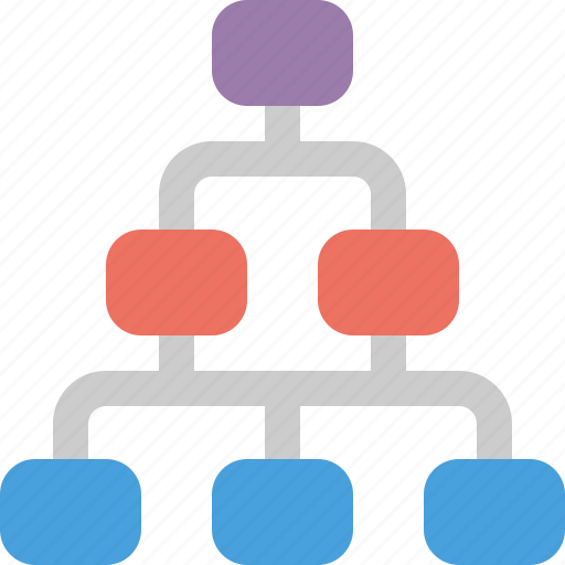 chart, data, database, document, organogram icon