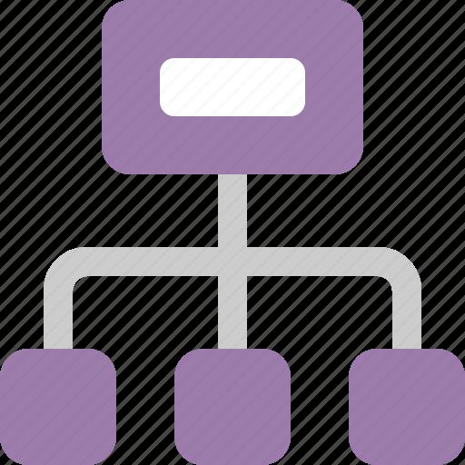 chart, data, database, document, file, organogram icon