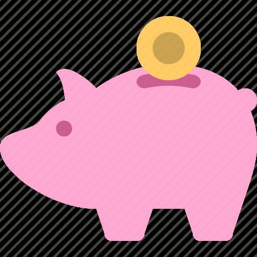 bank, finance, piggy, piggy bank, save icon
