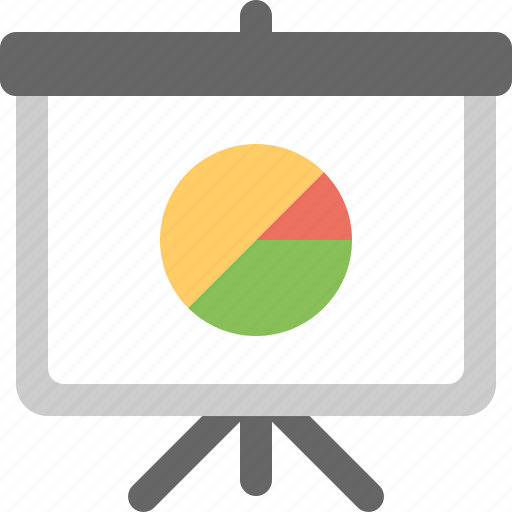 business, management, office, piechart, presentation icon