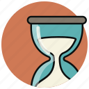clock, commerce, finance, financial, hourglass, simplus, time icon