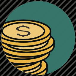 cash, cent, coin, dollar, finance, money icon