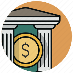 bank, finance, financial, institution, investment, stock, treasury icon