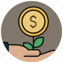 agriculture, business start, eco project, farm, nature, organic, plant icon