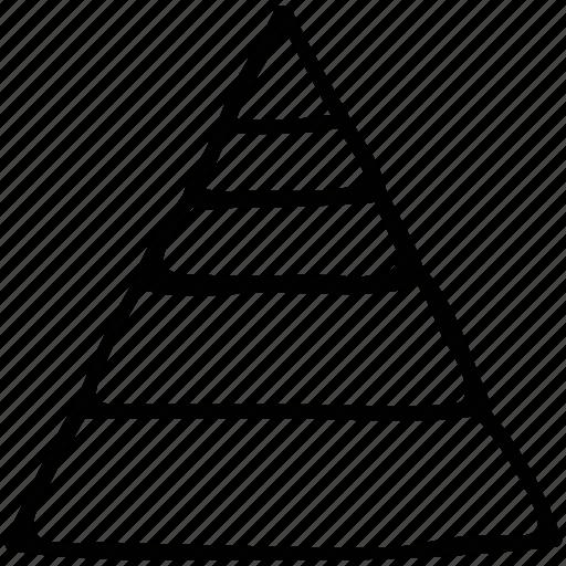 finance, planning, pyramid, retirement icon