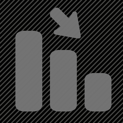 business, chart, decrease, drop, finance, graph, statistics icon