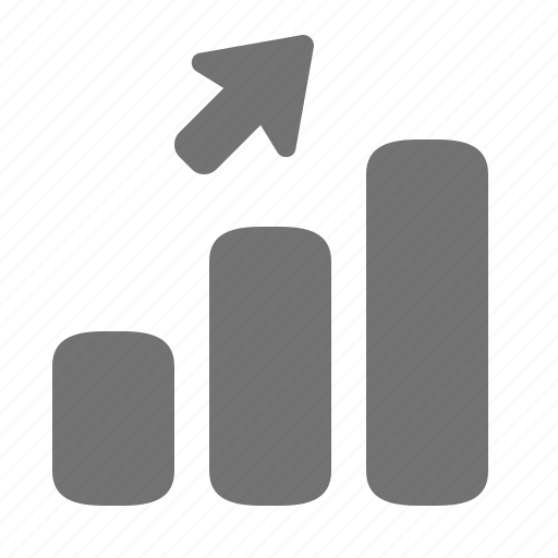 business, chart, finance, graph, grow, rise, statistics icon