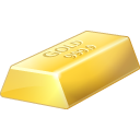 bar, bullion, gold icon