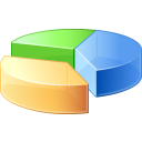 analysis, chart, graph, pie, statistics icon