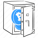 cryptocurrency, wallet, finance, btc, bitcoin, coin, blockchain, strongbox, safe icon