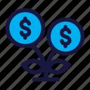 growth, plant, business, finance, dollar