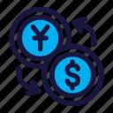 exchange, dollar, money, finance, business