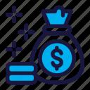 money, bag, finance, dollar, business