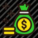 money, bag, finance, business, dollar