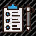 clipboard, document, file, list, business