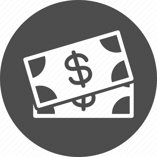 cash, currency, dollar banknotes, dollars, finance, money, price icon