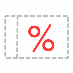 %, discount, financial, payment, percentage, persen, sale icon