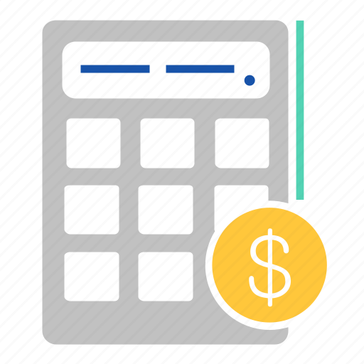 banking, business, calculator, coin, currency, finance icon