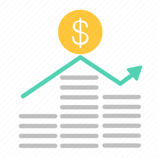 chart, coins, currency, finance, graph, money icon