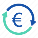 cash, coin, currency, dollar, euro, financial icon