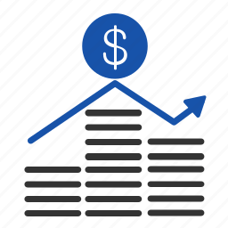 chart, coins, currency, finance, graph, money, payment icon