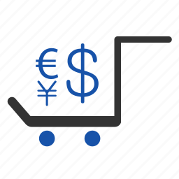 cart, currency, delivery, exchange, finance, paying, payment icon