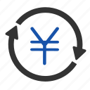 cash, coin, currency, financial, money, yen, yuan icon