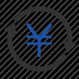 cash, coin, currency, financial, money, yen, yuan icon