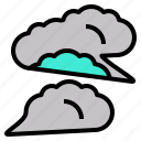 cloud, cluster, collection, fog, group icon
