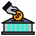 bank, investment, money, trade, trading icon