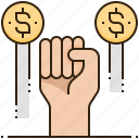 banking, business, financial, money, strength icon