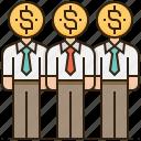 businessman, crowdfunding, financial, team, teamwork icon