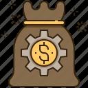 bag, banking, financial, fund, money icon
