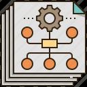 business, chart, information, organization, plan icon