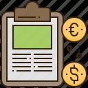 banking, exchange, financial, money, report