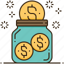 banking, cost, financial, money, saving icon