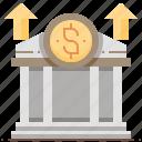 bank, banking, financial, money, profit icon