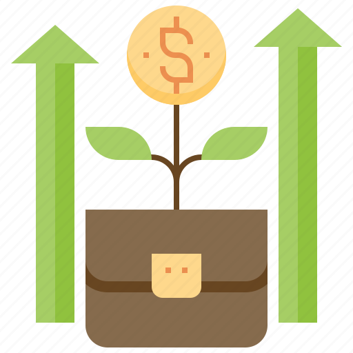 banking, business, financial, growth, money icon