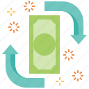 banking, currency, financial, money, revenue icon