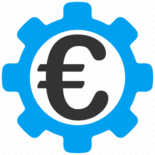 configuration, euro, gear, industry, options, payment, tools icon