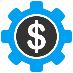 bank settings, business tools, dollar, financial, gear, money, payment options icon