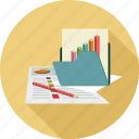 analytical data, charts, data, report icon