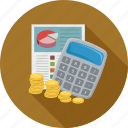 banking, budget, cost estimate, finance icon