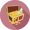 chest, money chest, savings, treasure icon