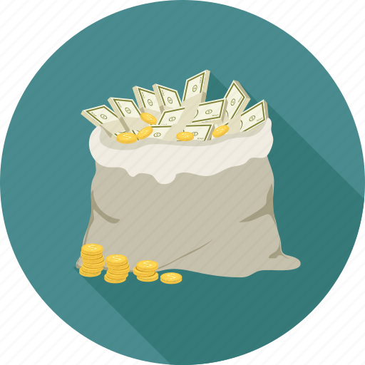 bag of money, money bag, money laundering, money sack icon